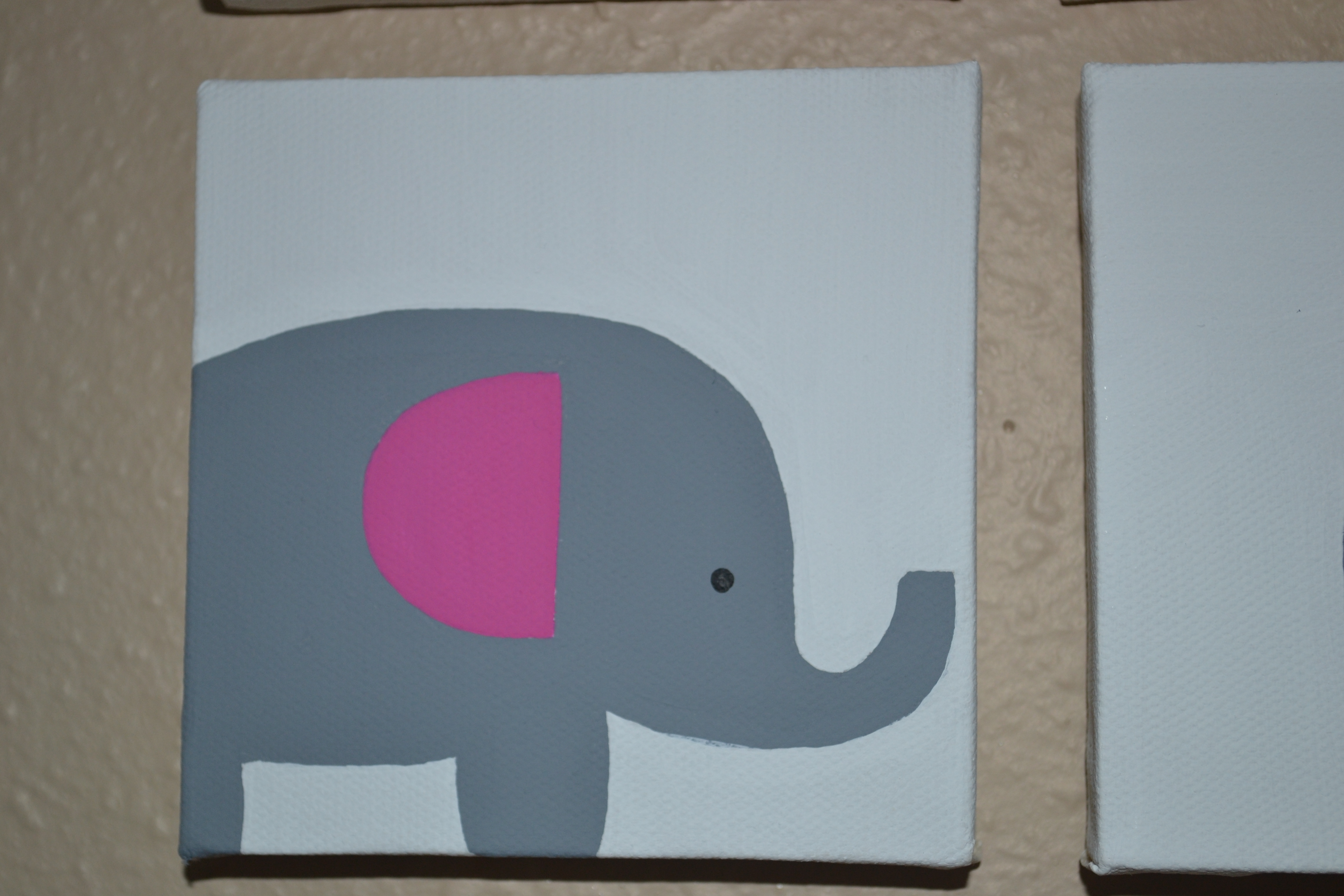 Super simple nursery painting life in these times for Cute painting ideas for kids