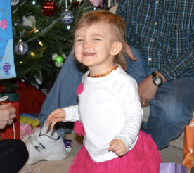 cheesin while opening gifts