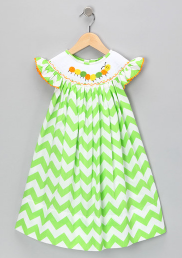 Green ZigZag Bishop Dress from Marjorie's Daughter (sale on Zulily NOW)