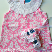 Dress and Ballet Bootie from Baby Blush Boutique