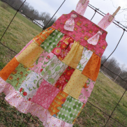 Love U Patchwork Dress/Tunic from Bleu Bird Designs